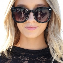 Black Round Style Sunglasses