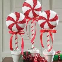 Christmas Whimsy - DIY Peppermint Topiary