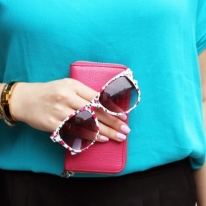 Fashion Style Rose Wayfarer