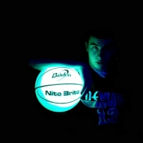 Glow in the Dark Rubber Basketball