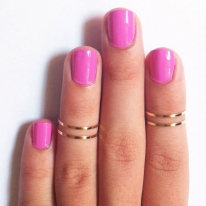 Gold Above Finger Ring