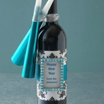 New Year Wine Bottle