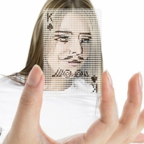 See Through Poker Face Playing Cards