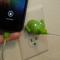 Android Robot USB Cell Phone Charger