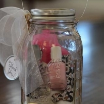 Cute DIY Nail Polish and File Sets In a Jar