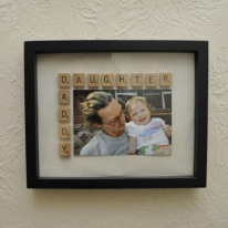 DIY Gift Ideas Daddy Daughter Scrabble Frame