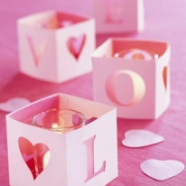 DIY Valentine's Boxes candle-lights