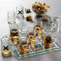 Game Night Tic Tac Toe Drinking Shot Glass Set