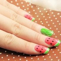Watermelon False Nails Nail Art Tips