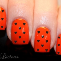 Black Love Hearts Nail Wraps Art Decal