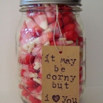 Candy Corn in a Mason Jar - DIY Valentines Day Ideas