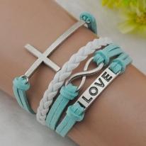 Cross Love infinity Charm Bracelet