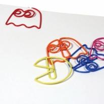 Cute Pac-Man Paper Clips