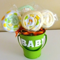 DIY Baby Washcloth Lollipops