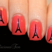 French Icon Eiffel Tower Nail Wrap Decal