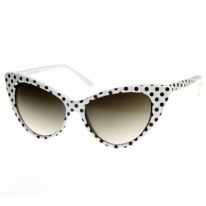 Polka Dot Cat Eye Cat Sunglasses