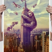 Slothzilla Poster