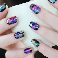 Wrap Transfer Paper Glitter Foil Sticker Nail Art