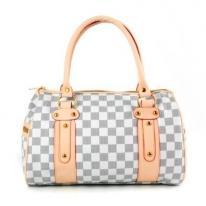 Zeagoo Women's Gray Damier Casual Handbag