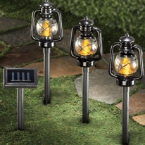 3Piece Solar Lantern Pathlights