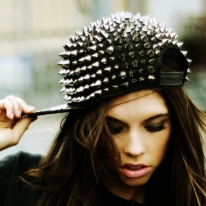 All-Over Spiked Snapback Hat