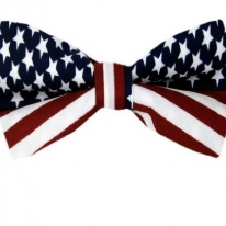 American Flag Self Tie Bow Tie