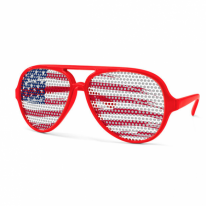Aviator USA Brush Red Shades