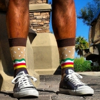 Burger Mens Crew Socks
