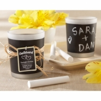 Chalkboard Frosted-Glass Tealights