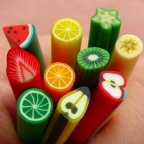 Fruit Canes Nail Art Designs