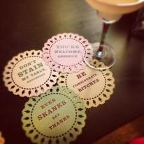 Fun Indelicate Doily Coasters