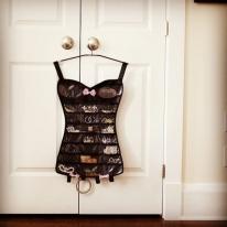 Little Black Corset Jewelry Organizer