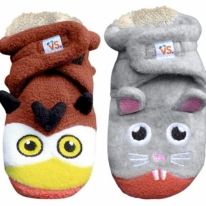 Owl vs. Mouse Baby Booties