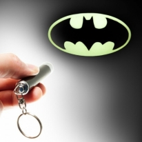 Batman Logo Flashlight Keychain