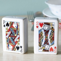 Cool Play Card Salt & Pepper Shakers