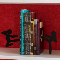 Stickmen Fighting Figures Bookends