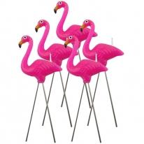 Tropical Pink Flamingo Candle