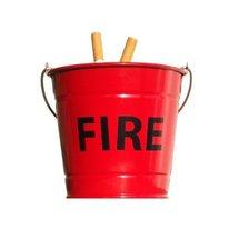Fire Red Bucket Ashtray