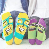 Funky Dad and Child Sock Set