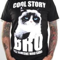 Grumpy Cat T-Shirt - Cool Story Bro