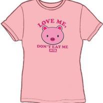 PETA Girls T-Shir - Love Me! Don't Eat Me!