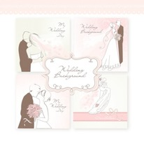 Wedding Digital Clip Art Card II