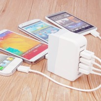 4-Port Travel USB Wall Charger