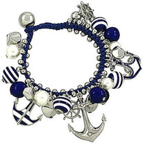 Anchor Navy and Helm Bracelet