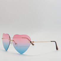 colorful heart shaped sunglasses