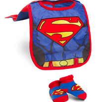 DC Comic Superhero Infant Bib and Booties Sets