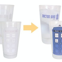 Doctor Who Color-changing TARDIS Pint Glasses