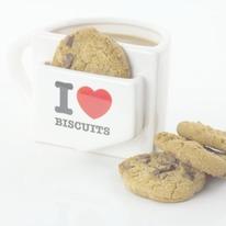 I Heart Biscuits Pocket Coffee Mug