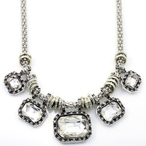 Silver Ice Queen Bib Necklace
