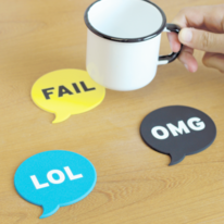 Funny Chat Coasters Set